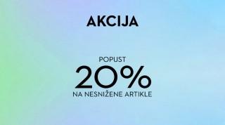 Akcija  - Popust 20% na nesnižene artikle